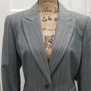 Pinstriped pantsuit